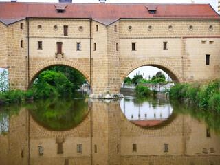Amberg Stadtbrille Bayern Stadt historische Amberger Altstadt Fluss Vils Oberpfalz Ostbayern historisch  Deutschland Europa