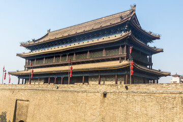 West Gate at the City walls of Xi'an, China Fototapete