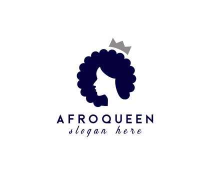 Afro Queen logo design