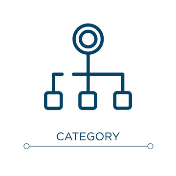 Category icon. Linear vector illustration. Outline category icon vector. Thin line symbol for use on web and mobile apps, logo, print media.