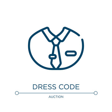Dress code icon. Linear vector illustration from business administration collection. Outline dress code icon vector. Thin line symbol for use on web and mobile apps, logo, print media.