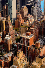 Beautiful view of the rooftops of Manhattan, New York, NY, United States of Americs