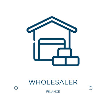 Wholesaler icon. Linear vector illustration from business collection. Outline wholesaler icon vector. Thin line symbol for use on web and mobile apps, logo, print media.