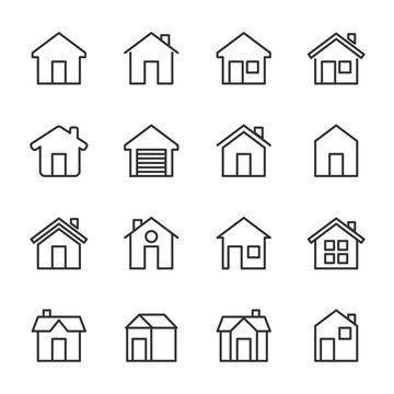 Simple Set of HOME vector icon. Illustration isolated for graphic and web design. Editable Stroke. 64x64 Pixel Perfect