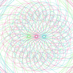 An abstract colorful swirl shape background image.