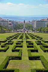 Eduardo VII Park which is a public park in Lisbon, Portugal. The park is to the north of the Avenida da Liberdade and the Marquis of Pombal Square, in the centre of the city