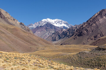 Le mont Aconcagua en Argentine