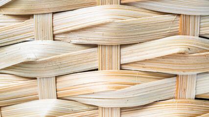 Tło z drewna z plecionej wikliny w dużej rozdzielczości