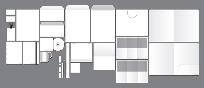 blank stationery template use to design for logo and corporate identity and brand