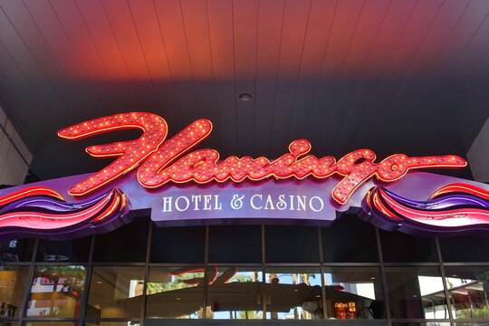 LAS VEGAS, NV -6 JUN 2020- The Flamingo Hotel located on the Las Vegas Strip was opened in 1946 by famous mobster Bugsy Siegel.