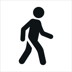 man walking icon, person walking icon