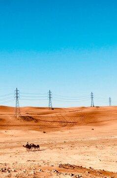 power lines in the desert