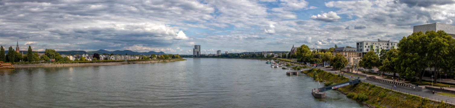 Panorama of Bonn in Germany on the Rhine river