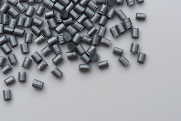 sylver dyed plastic polymer pellets