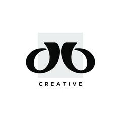 Fototapeta Creative abstract logo design template