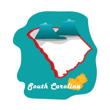 south carolina state map with carolina yellow jessamine