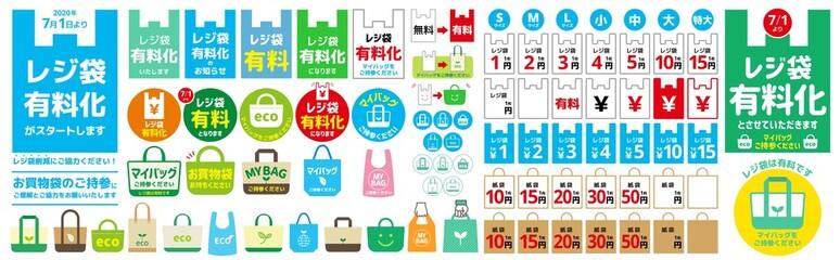 レジ袋有料化POP Fotobehang