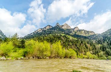 Fototapeta Pieniny Dunajec wartki nurt rzeki obraz