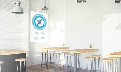 Modern Coffee shop covid free