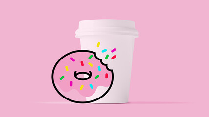 Coffee and donut