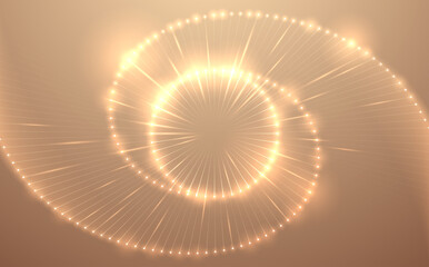 Abstract gold light circle background