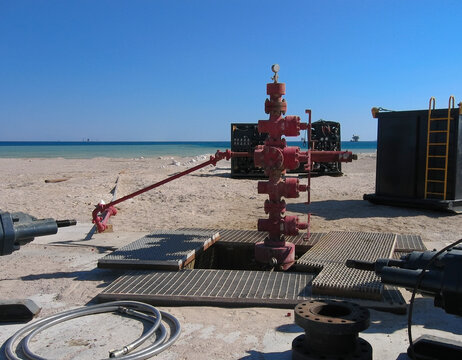 Onshore wellhead in Egypt being prepared for workover