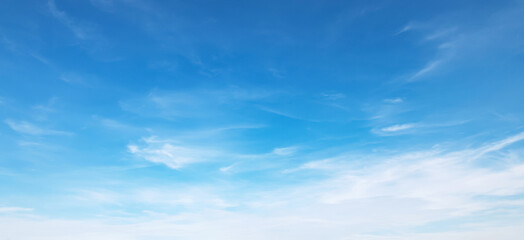 panorama blue sky with cloud and sunshine background