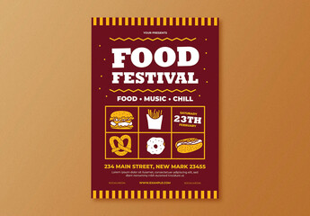 Food Festival Flyer Layout