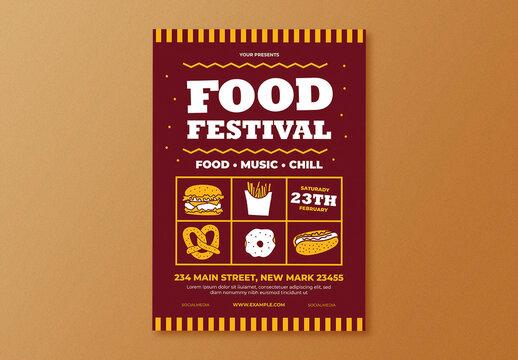Food Festival Flyer Layout