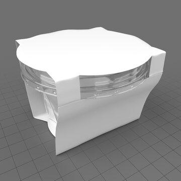 Plastic yogurt box