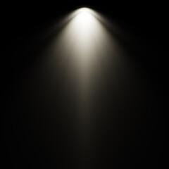 Foto op Textielframe Licht, schaduw Rays light isolated on black background for overlay design and sunshine