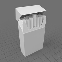 Open cigarette pack 1