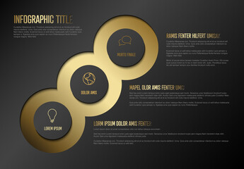 Three Golden Elements Infographic Layout