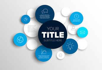 Multipurpose Infographic Layout with Blue Content Circles