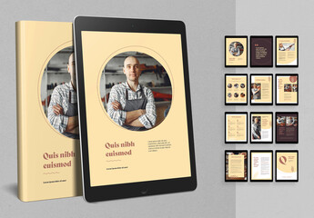 Ebook Layout with Brown Accents