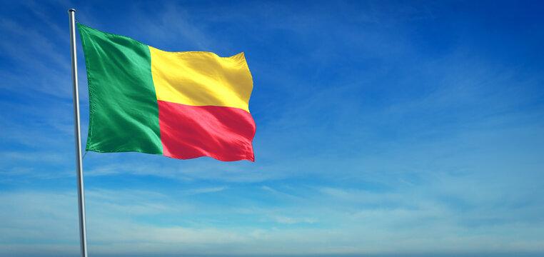 The National flag of Benin