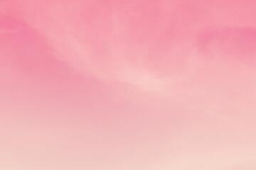 Fond de hotte en verre imprimé Rose banbon Beautiful sky and clouds in soft pastel color.Soft pink cloud in the sky background colorful pastel tone.