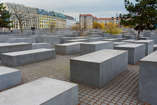 Memorial to the Murdered Jews of Europe or Holocaust Memorial. Berlin. Germany