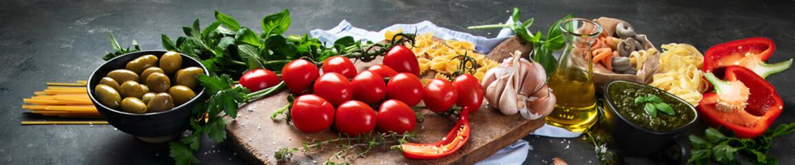 Tuinposter Mediterraans Europa Italian food ingredients