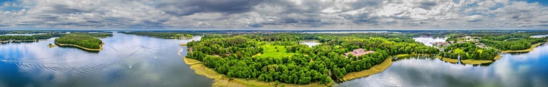 Poster de jardin Vieux rose Panorama Mazur w północno-wschodniej Polsce