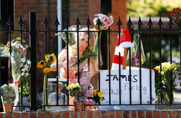 Floral tributes at The Holt School in Wokingham