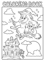 Photo sur Plexiglas Enfants Coloring book Halloween image 3