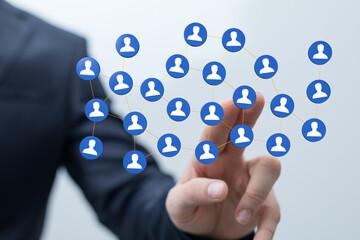 internet network team group digital as concept