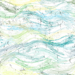 seamless pattern background, with waves, strokes and splashes, grungy