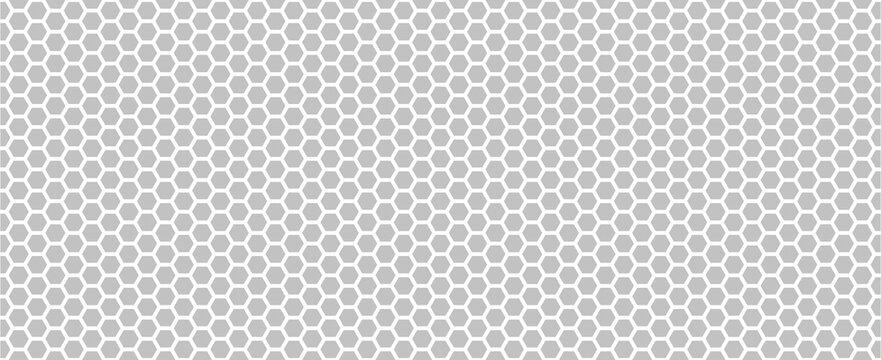 Hexagon seamless pattern. Hexagon grey background. Vector