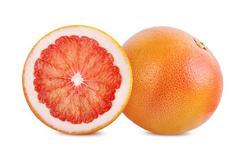 Wall Mural - grapefruit isolated on white background