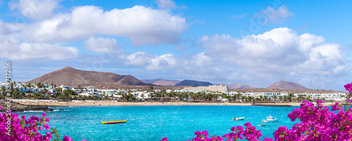 Wall mural Landscape with Costa Teguise on Lanzarote, Canary Islands