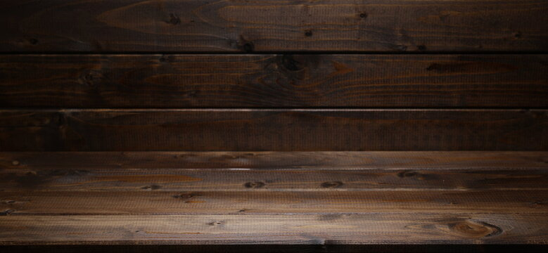 Wooden planks corner, boards, table surface background and texture