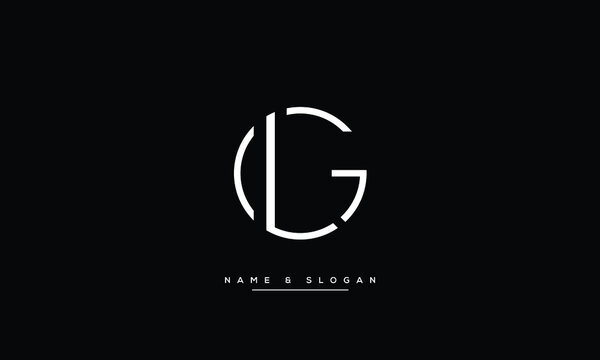 LG,GL,L ,G  Abstract Letters Logo Monogram