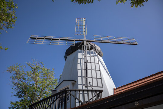 Hamlet square in Solvang which is a city in southern California's Santa Ynez Valley. It's known for its Danish-style architecture and many wineries.